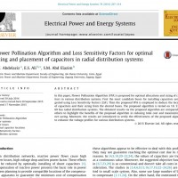 شبیه سازی مقاله Flower Pollination Algorithm and Loss Sensitivity Factors for optimal sizing and placement of capacitors in radial distribution systems