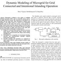 شبیه سازی مقاله Dynamic Modeling of Microgrid for Grid Connected and Intentional Islanding Operation