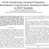 شبیه سازی مقاله On the Synchronous Generator Parameters Determination Using Dynamic Simulations Based on IEEE Standards