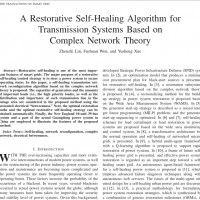 شبیه سازی مقاله A Restorative Self-Healing Algorithm for Transmission Systems Based on Complex Network Theory