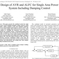 شبیه سازی مقاله Design of AVR and ALFC for Single Area Power System Including Damping Control