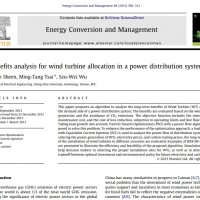 شبیه سازی مقاله A benefits analysis for wind turbine allocation in a power distribution system