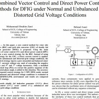 شبیه سازی مقاله Combined Vector Control and Direct Power Control Methods for DFIG under Normal and Unbalanced and Distorted Grid Voltage Conditions