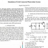 شبیه سازی مقاله Simulation of Grid-Connected Photovoltaic System