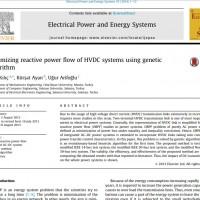 شبیه سازی مقاله Optimizing reactive power flow of HVDC systems using genetic algorithm