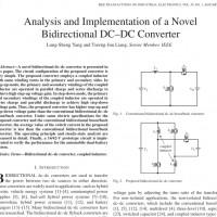 شبیه سازی مقاله Analysis and Implementation of a Novel Bidirectional DC–DC Converter