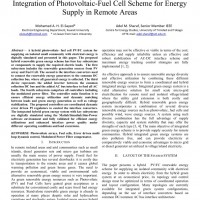 شبیه سازی مقاله Integration of Photovoltaic-Fuel Cell Scheme for Energy Supply in Remote Areas