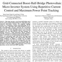 شبیه سازی مقاله Grid-Connected Boost-Half-Bridge Photovoltaic Micro Inverter System Using Repetitive Current Control and Maximum Power Point Tracking