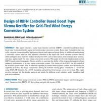 شبیه سازی مقاله Design of RBFN Controller Based Boost Type Vienna Rectifier for Grid-Tied Wind Energy Conversion System