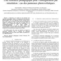شبیه سازی مقاله A teaching resource for simulation education: the case of photovoltaic panels