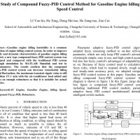 شبیه سازی مقاله Study of Compound Fuzzy-PID Control Method for Gasoline Engine Idling Speed Control