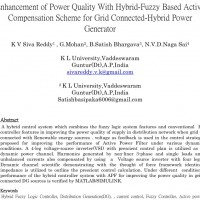 شبیه سازی مقاله Enhancement of Power Quality With Hybrid-Fuzzy Based Active Compensation Scheme for Grid Connected-Hybrid Power Generator