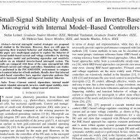 شبیه سازی مقاله Small-Signal Stability Analysis of an Inverter-Based Microgrid with Internal Model–Based Controllers