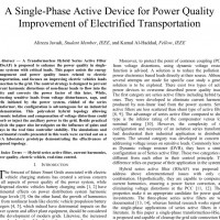 شبیه سازی مقاله A Single-Phase Active Device for Power Quality Improvement of Electrified Transportation