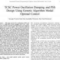 شبیه سازی مقاله TCSC Power Oscillation Damping and PSS Design Using Genetic Algorithm Modal Optimal Control