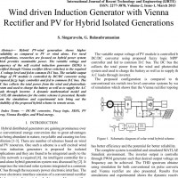 شبیه سازی مقاله Wind driven Induction Generator with Vienna Rectifier and PV for Hybrid Isolated Generations