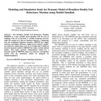 شبیه سازی مقاله Modeling and Simulation Study for Dynamic Model of Brushless Doubly Fed Reluctance Machine using Matlab Simulink