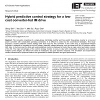 شبیه سازی مقاله Hybrid predictive control strategy for a low- cost converter-fed IM drive