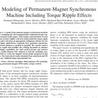 شبیه سازی مقاله Modeling of Permanent-Magnet Synchronous Machine Including Torque Ripple Effects