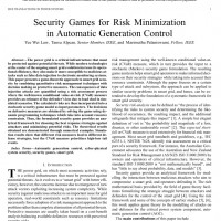 شبیه سازی مقاله Security Games for Risk Minimization in Automatic Generation Control