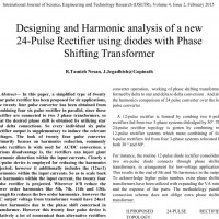 شبیه سازی مقاله Designing and Harmonic analysis of a new 24-Pulse Rectifier using diodes with Phase Shifting Transformer