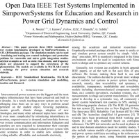 شبیه سازی مقاله Open Data IEEE Test Systems Implemented in SimpowerSystems for Education and Research in Power Grid Dynamics and Control