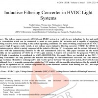 شبیه سازی مقاله Inductive Filtering Converter in HVDC Light Systems