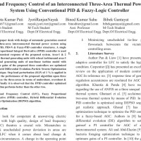 شبیه سازی مقاله Load Frequency Control of an Interconnected Three-Area Thermal Power System Using Conventional PID & Fuzzy-Logic Controller