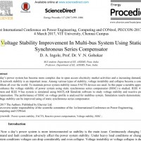 شبیه سازی مقاله voltage stability improvement in multi-bus system using static synchronous series compensator