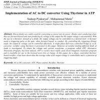 شبیه سازی مقاله Implementation of AC to DC converter Using Thyristor in ATP