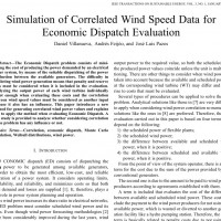 شبیه سازی مقاله Simulation of Correlated Wind Speed Data for Economic Dispatch Evaluation