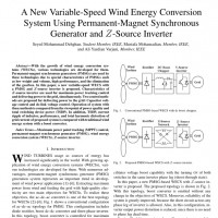 شبیه سازی مقاله A New Variable-Speed Wind Energy Conversion System Using Permanent-Magnet Synchronous Generator and Z-Source Inverter