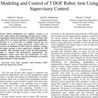 شبیه سازی مقاله Modeling and Control of 5 DOF Robot Arm Using Supervisory Control