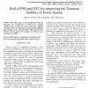شبیه سازی مقاله Roll of PSS and SVC for improving the Transient Stability of Power System