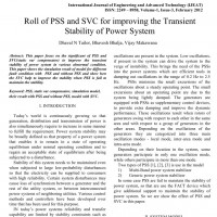 شبیه سازی مقاله Roll of PSS and SVC for improving the Transient Stability of Power System