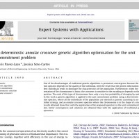 شبیه سازی مقاله A deterministic annular crossover genetic algorithm optimisation for the unit commitment problem