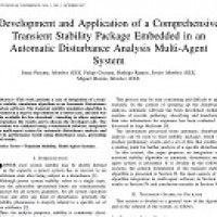 شبیه سازی مقاله Development and application of a comprehensive transient stability package embedded in an automatic disturbance analysis multi-agent system