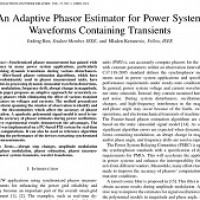 شبیه سازی مقاله An Adaptive Phasor Estimator for Power System Waveforms Containing Transients