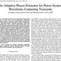 شبیه سازی مقاله An Adaptive Phasor Estimator for Power System Waveforms Containing Transients