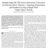 شبیه سازی مقاله Double-Input DC–DC Power Electronic Converters for Electric-Drive Vehicles