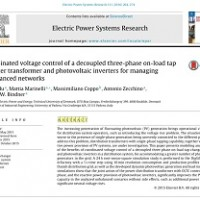 شبیه سازی مقاله Coordinated voltage control of a decoupled three-phase on-load tap changer transformer and photovoltaic inverters for managing unbalanced networks