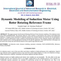 شبیه سازی مقاله Dynamic Modeling of Induction Motor Using Rotor Rotating Reference Frame