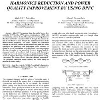 شبیه سازی مقاله HARMONICS REDUCTION AND POWER QUALITY IMPROVEMENT BY USING DPFC