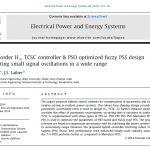 کنترل کننده H1 TCSC با مرتبه کاهش یافته و طراحی PSS فازی بهینه PSO در کاستن از نوسانات سیگنال کوچک در محدودهای گسترده