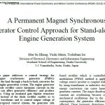 روند کنترل یک ژنراتور همزمان (سنکرون) آهنربای دائم برای سیستم تولید موتور گاز مستقل