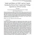 بررسی و اثرات UPFC و سیستم کنترل آن برای کنترل پخش بار و تزریق ولتاژ در سیستم های قدرت