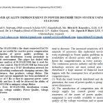 ارتقای کیفیت نیرو در سیستم توزیع نیرو بااستفاده از D-STATCOM