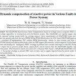 جبرانسازی دینامیک توان راکتیو در خطاهای مختلف در سیستم های قدرت
