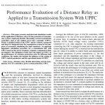 ارزیابی عملکرد یک رله Distance به یک سیستم انتقال با UPFC