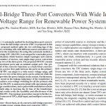 مبدل های سه پورت پل-کامل با محدوده ولتاژ ورودی گسترده برای سیستم های قدرت تجدید پذیر